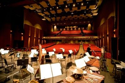 On Stage At Popejoy Hall At The University Of New Mexico Albuquerque S Finest Performance Space Theater Architecture University Of New Mexico Concert Hall