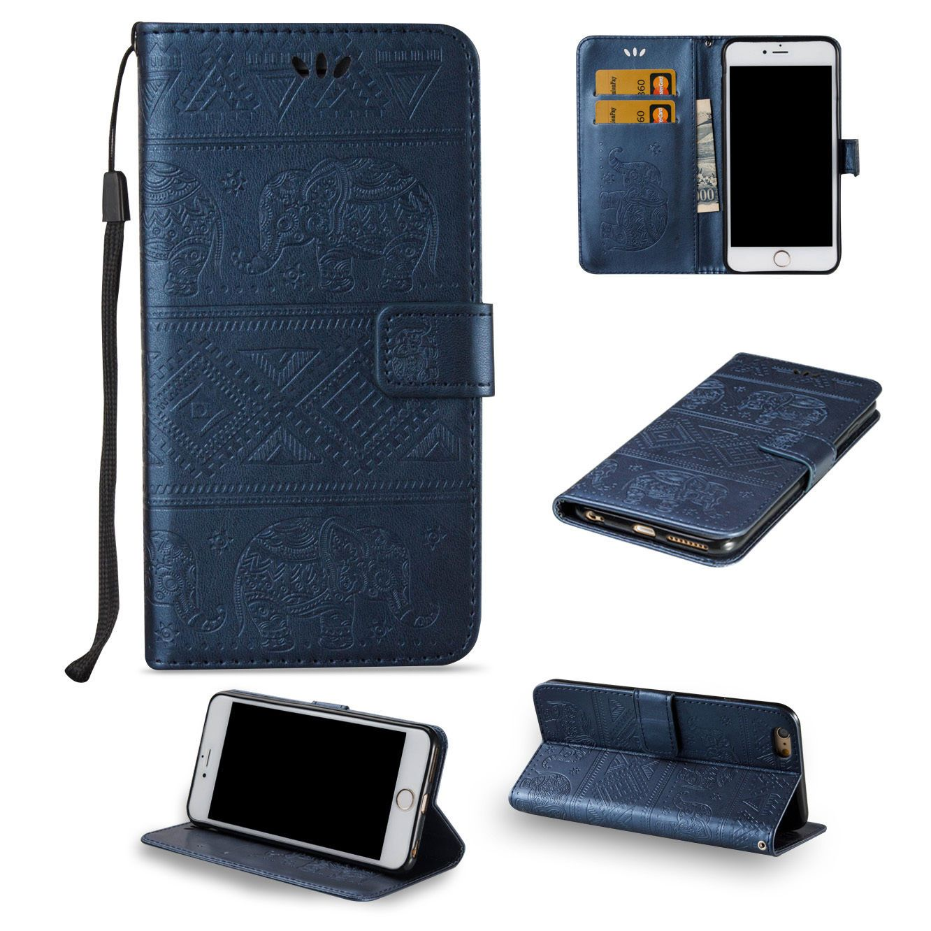 Solid Fold Stand Leather Wallet Phone Cases For Samsung Galaxy Cell Phone With Images