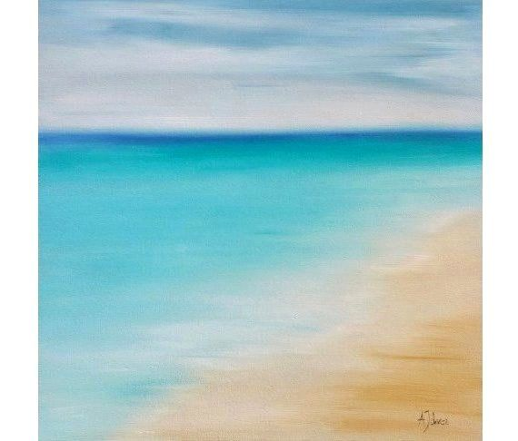 Oil Painting Seascape Abstract Beach Art Seascape Painting Florida