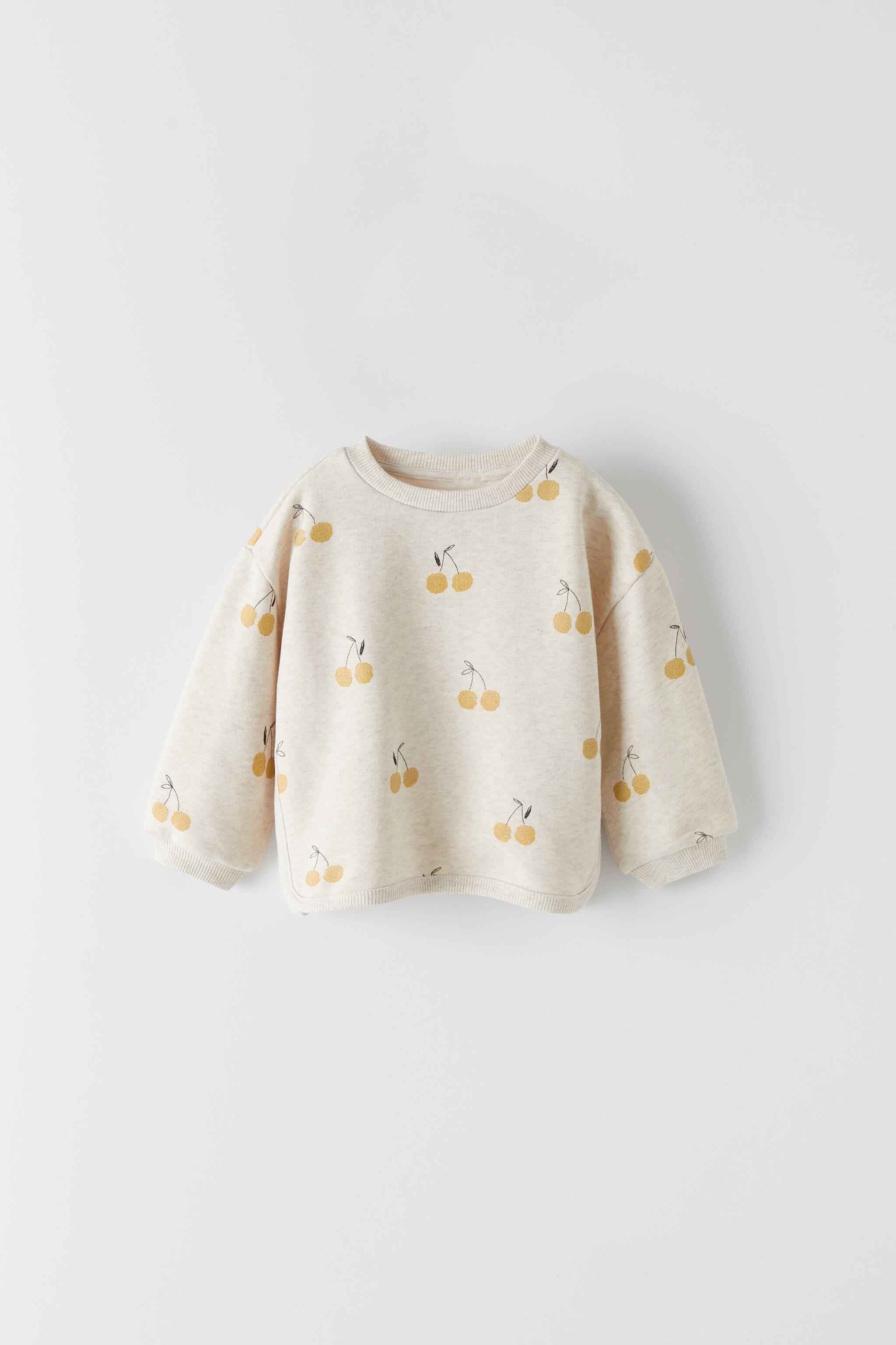 Cherry Sweatshirt Zara United Kingdom Baby Clothes Sizes Baby Girl Sweatshirt Hipster Baby Clothes [ 3072 x 2048 Pixel ]