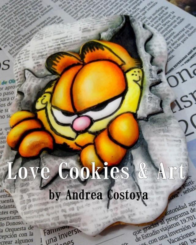 Garfield+2D+cookie+-+Cake+by+Andrea+Costoya