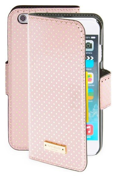 official photos 5f5de 091b0 kate spade new york 'tiny gold dot' iPhone 6 folio case available at ...