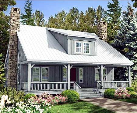 Plan 58555sv Big Rear And Front Porches Rustic House Plans