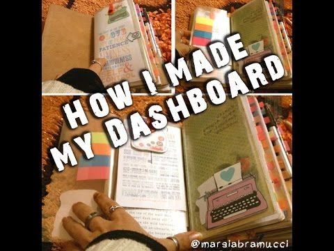 How I made my dashboard for my Traveler's Notebook