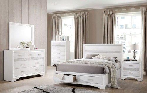 Miranda Queen Storage Platform Bed - White Bed Pinterest