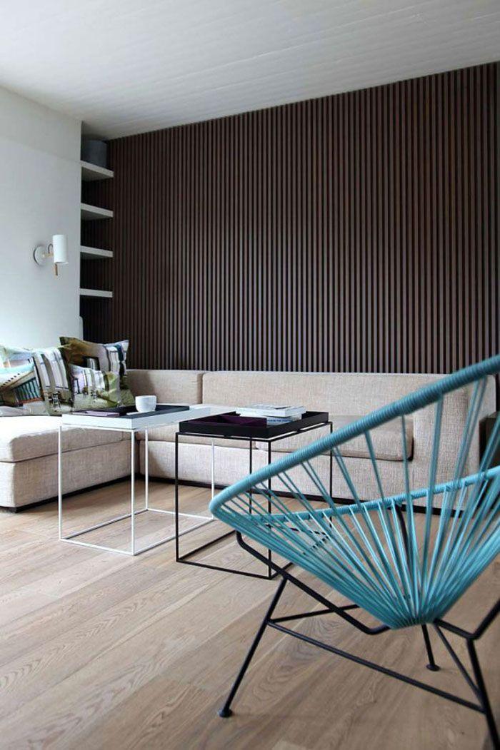 Holzkunst Kreative Wandgestaltung Wanddeko Ideen Holz Verkleidung Modern  Schwarz