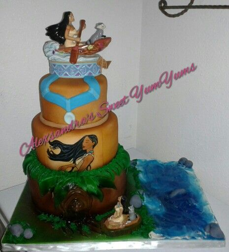 Terrific Pocahontas Theme Cake Please Follow Me On Instagram Sweetyumyums Personalised Birthday Cards Cominlily Jamesorg