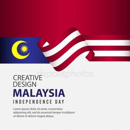 Malaysia Independence Day Celebration Creative Design Illustration Vector Templa