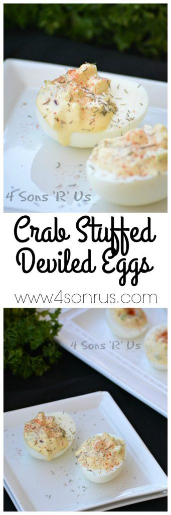 Crab Stuffed Deviled Eggs - 4 Sons 'R' Us