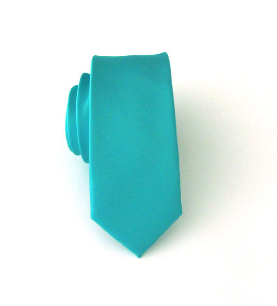 Turquoise Tonal Stripe Pocket Square