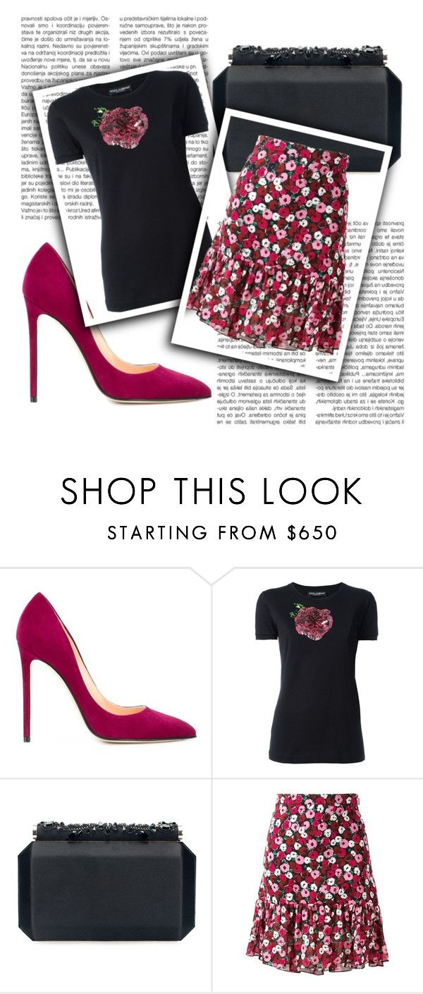 """""""Outfit # 3873"""" by miriam83 ❤ liked on Polyvore featuring Cerasella Milano, Dolce&Gabbana, Oscar de la Renta and Yves Saint Laurent"""
