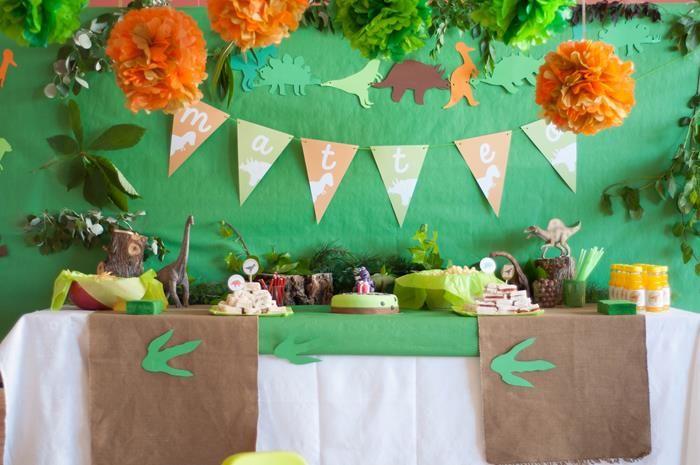DinoDinosaur Themed 2nd Birthday Party with Lots of Cute Ideas via