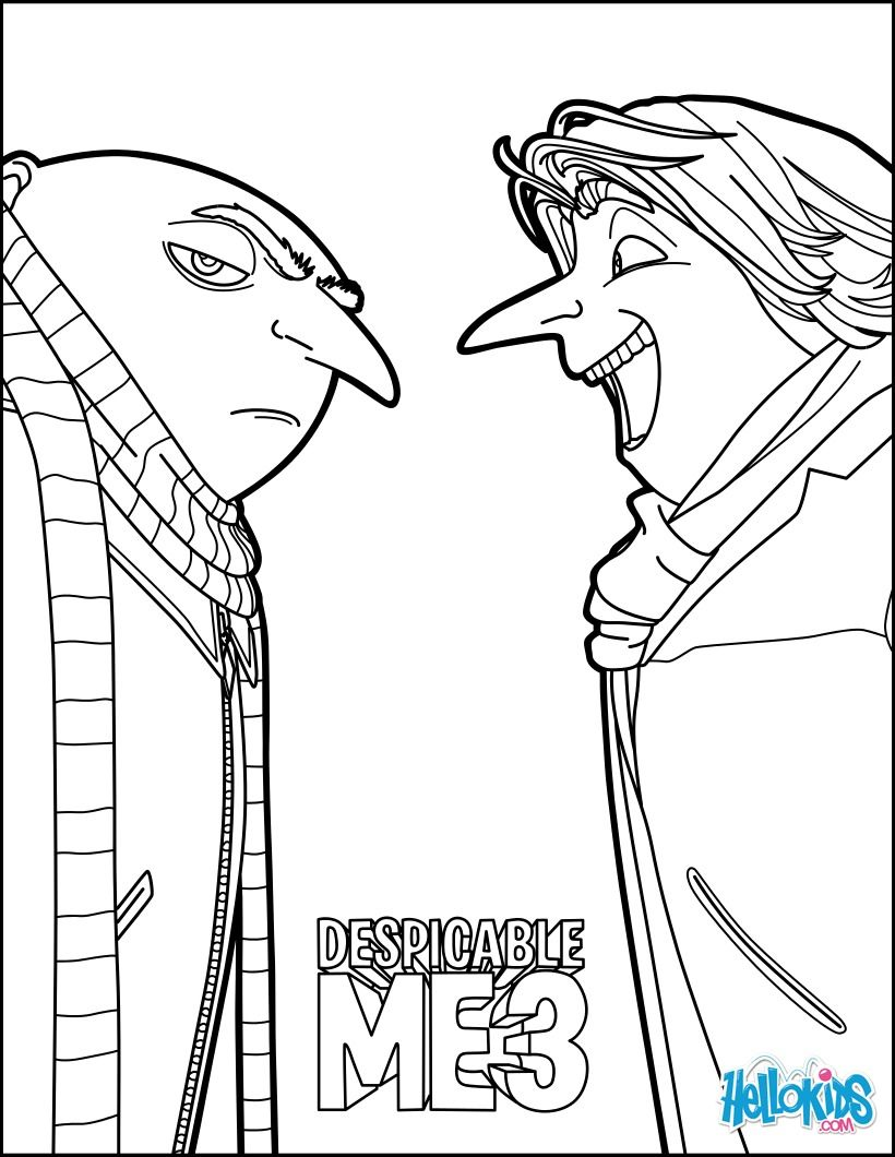 Gru and this new friend coloring page. More Despicable Me coloring