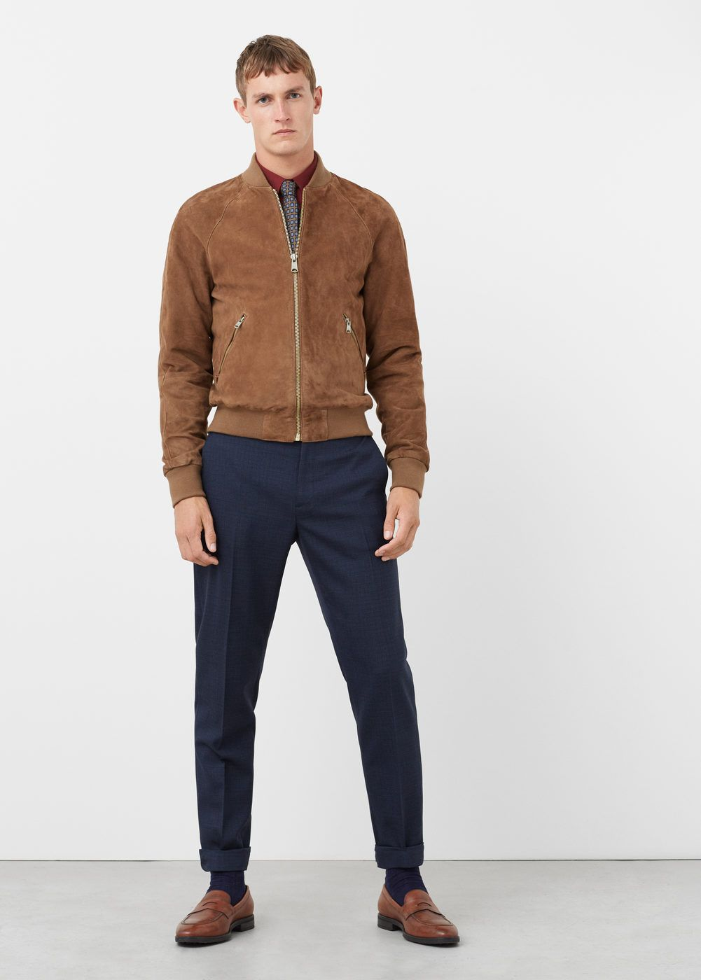 Suede bomber jacket - Men   The Preppy Style - Part I   Bomber ... d519378e96cd