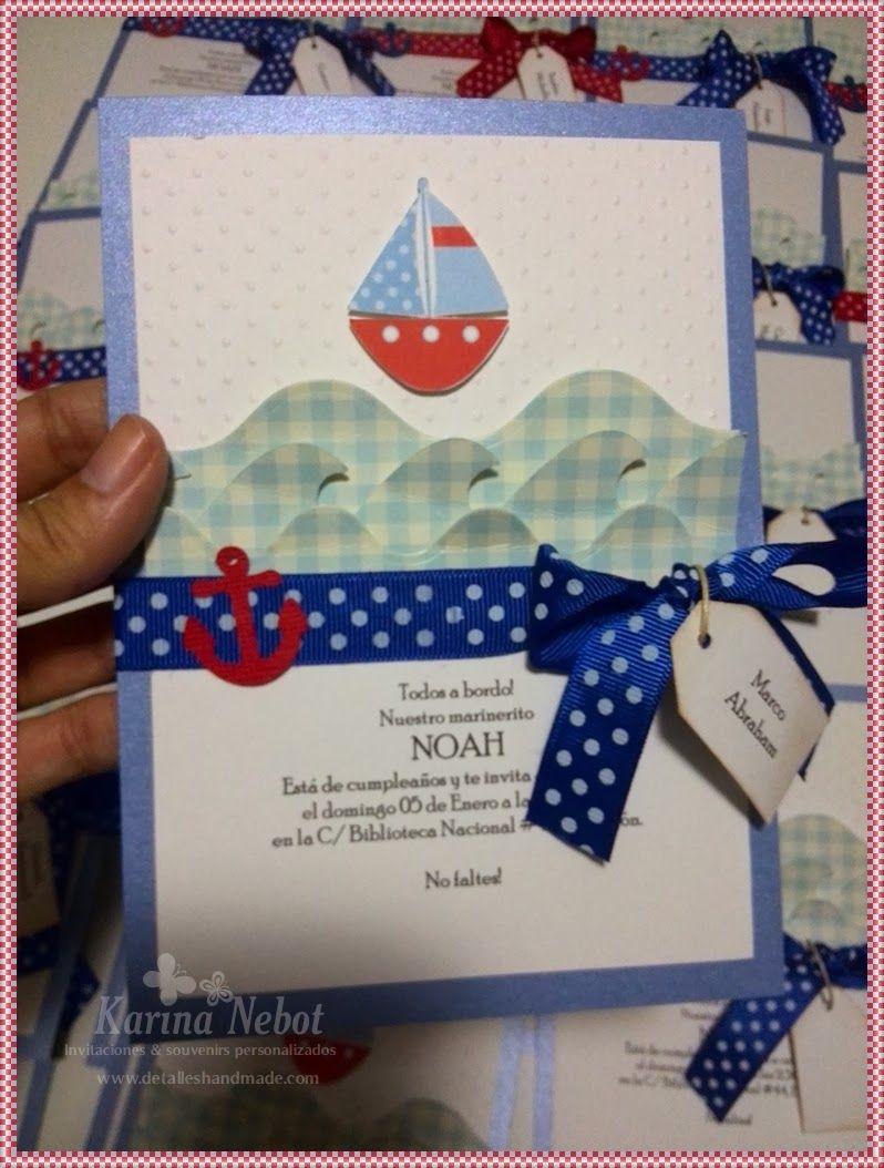 Buenos días!!!   Empezando el año se celebró el primer añito de Noah,   al estilo marinero. Para la ocasión, hicimos   las invitaciones, d...