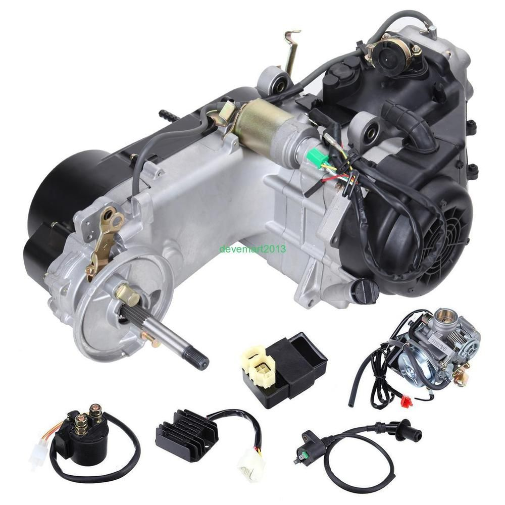 hight resolution of gy6 4 stroke 150cc scooter motorcycle atv dirt bikes engine w kick start lever unbranded