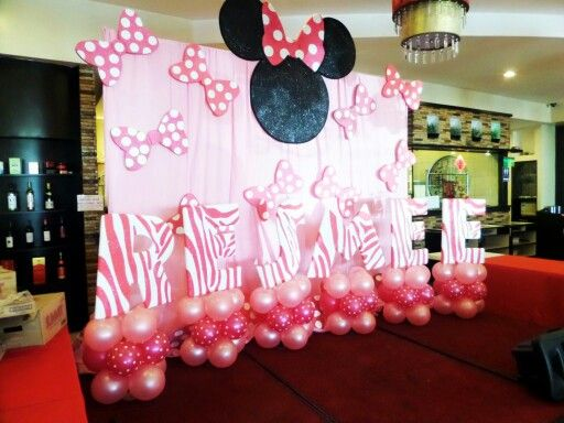 Minnie Mouse Themed Stage Decor Minnie Mouse Birthday Party