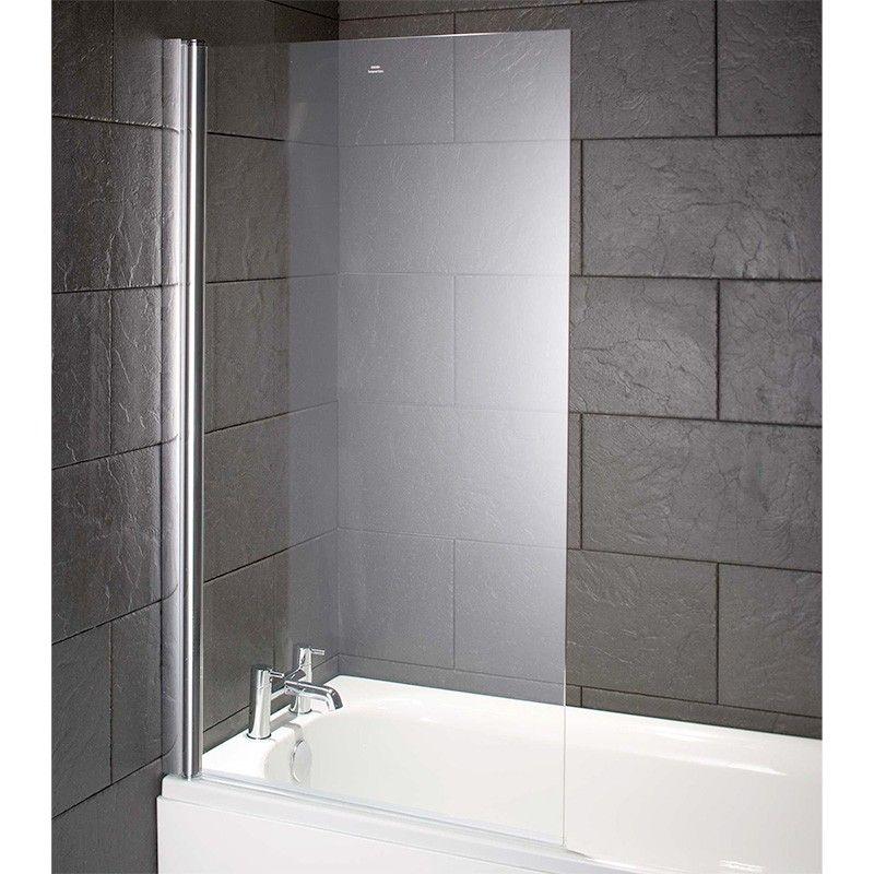 Fortuna 600mm Single Bath Shower Screen Bathroom Bath