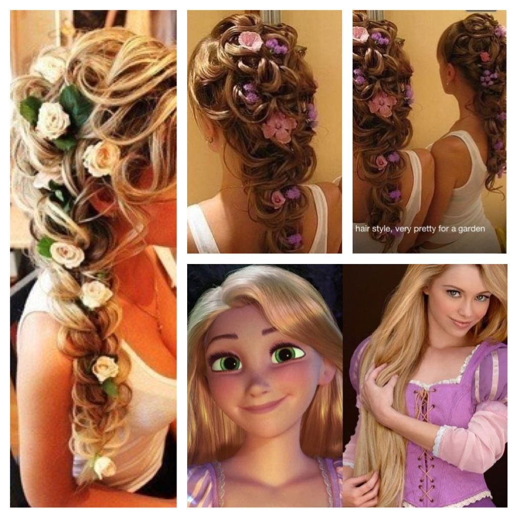 rapunzel inspired hair | princesses | princess hairstyles