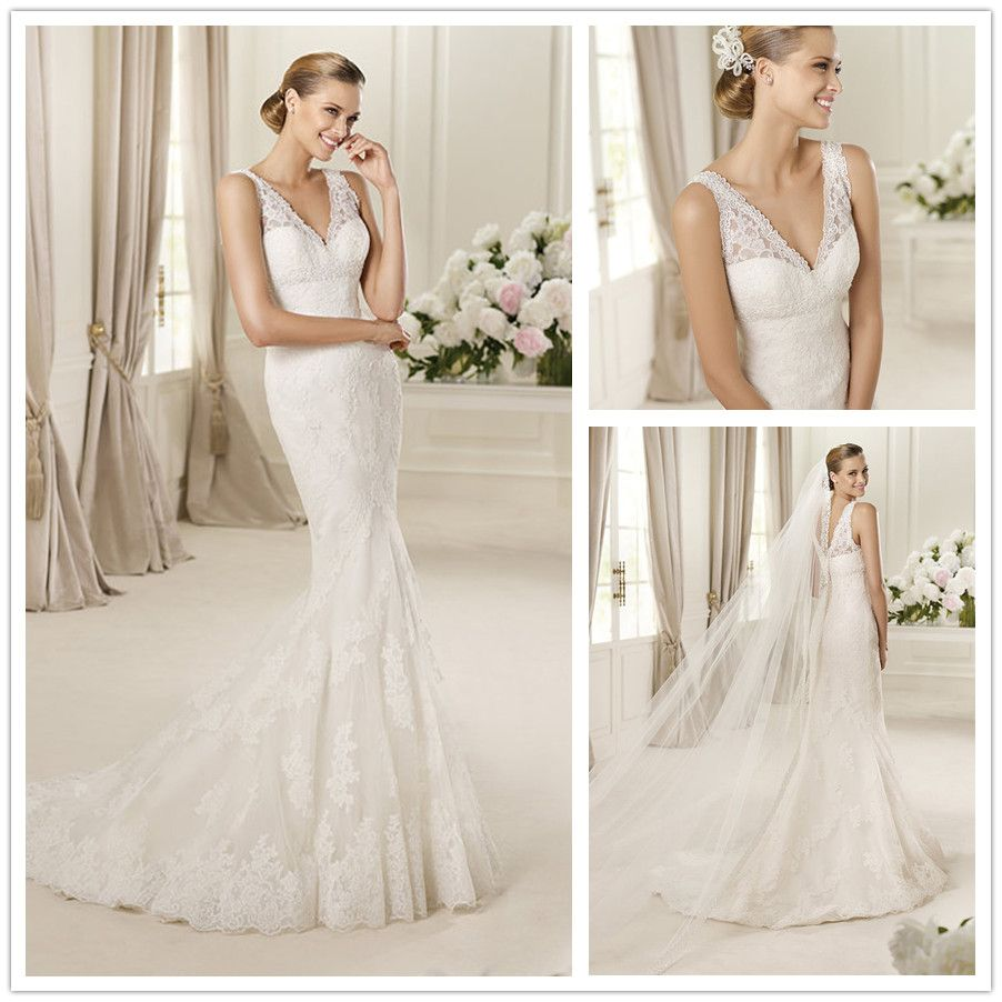 a3c85f555dbdd eddy k 2018 bridal sleeveless lace strap v neck full embellishment open  side glamorous elegant a line fashion dress open v back royal train  (adriana) bv ...