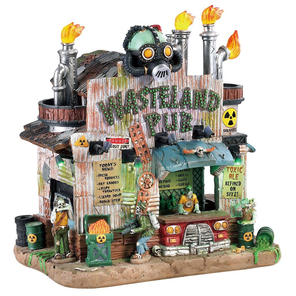 Lemax Wasteland Pub Lemax spooky town, Spooky town