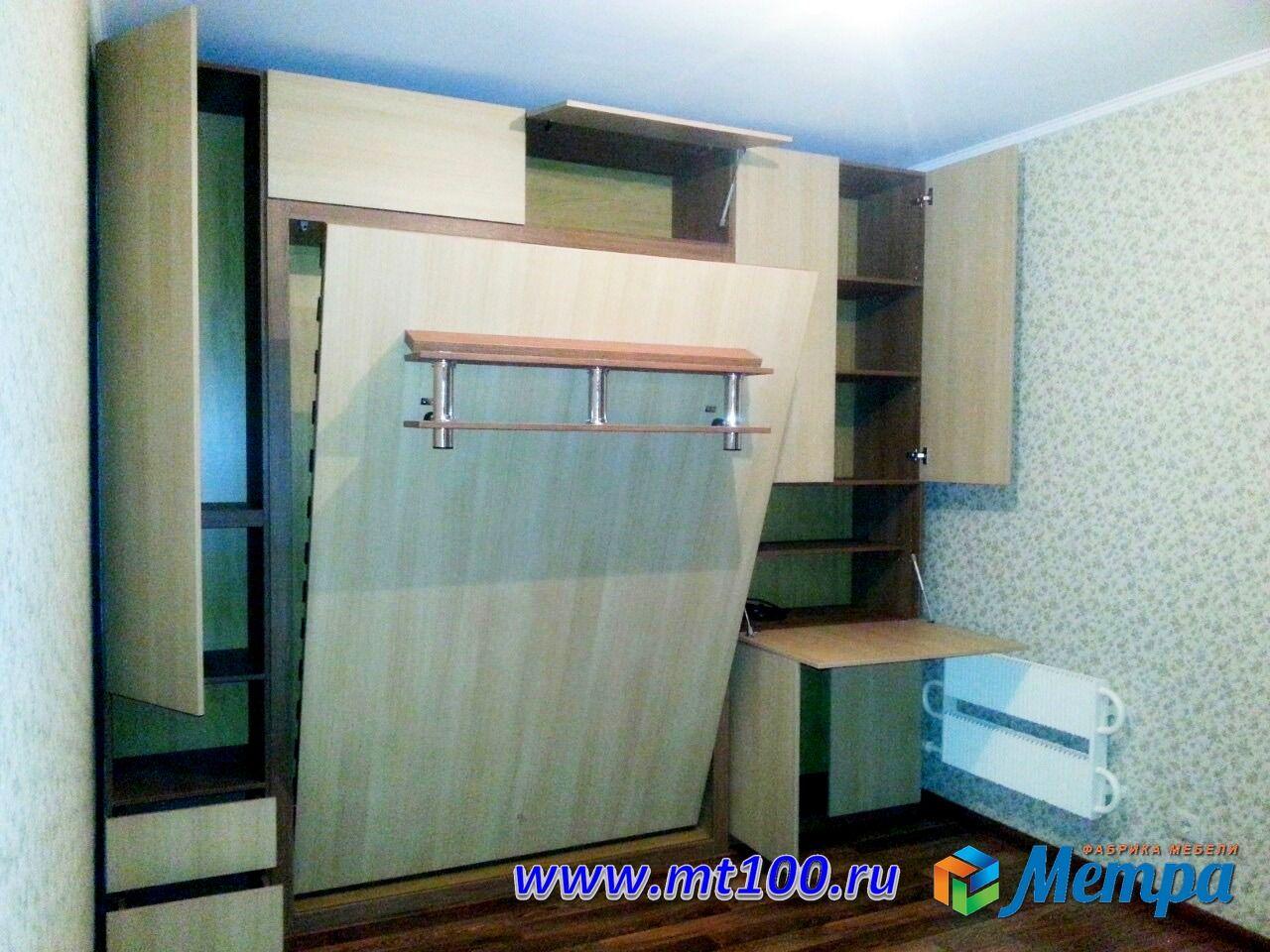 откидная шкаф кровать со столом секретером мебельтрансформе