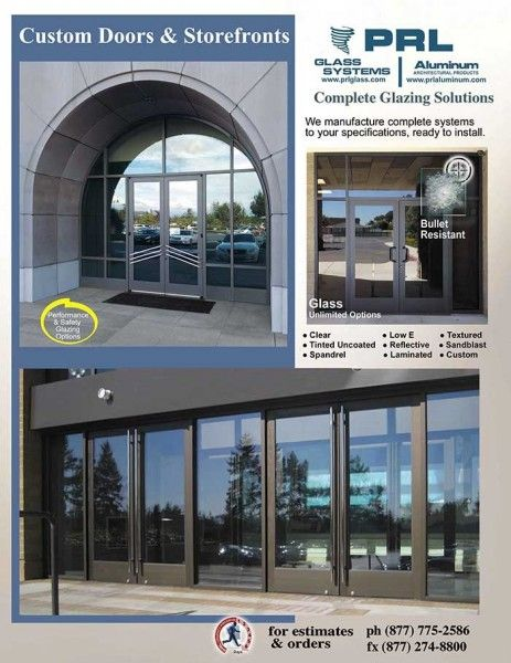Prl S Aluminum Entrance Doors Storefronts Are Available In Many