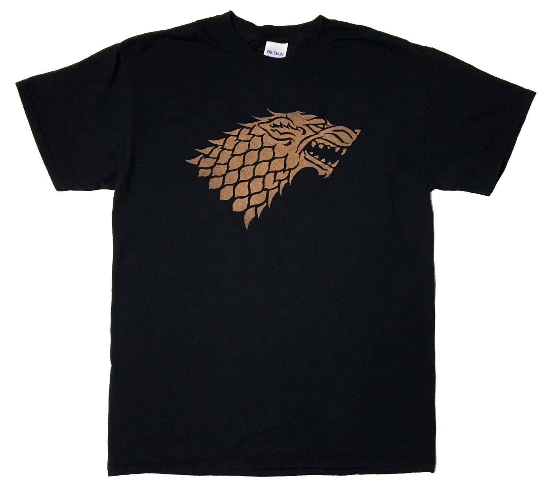 House Stark Direwolf Sigil Game of Thrones Bleached T-shirt by DanasJumble on Etsy