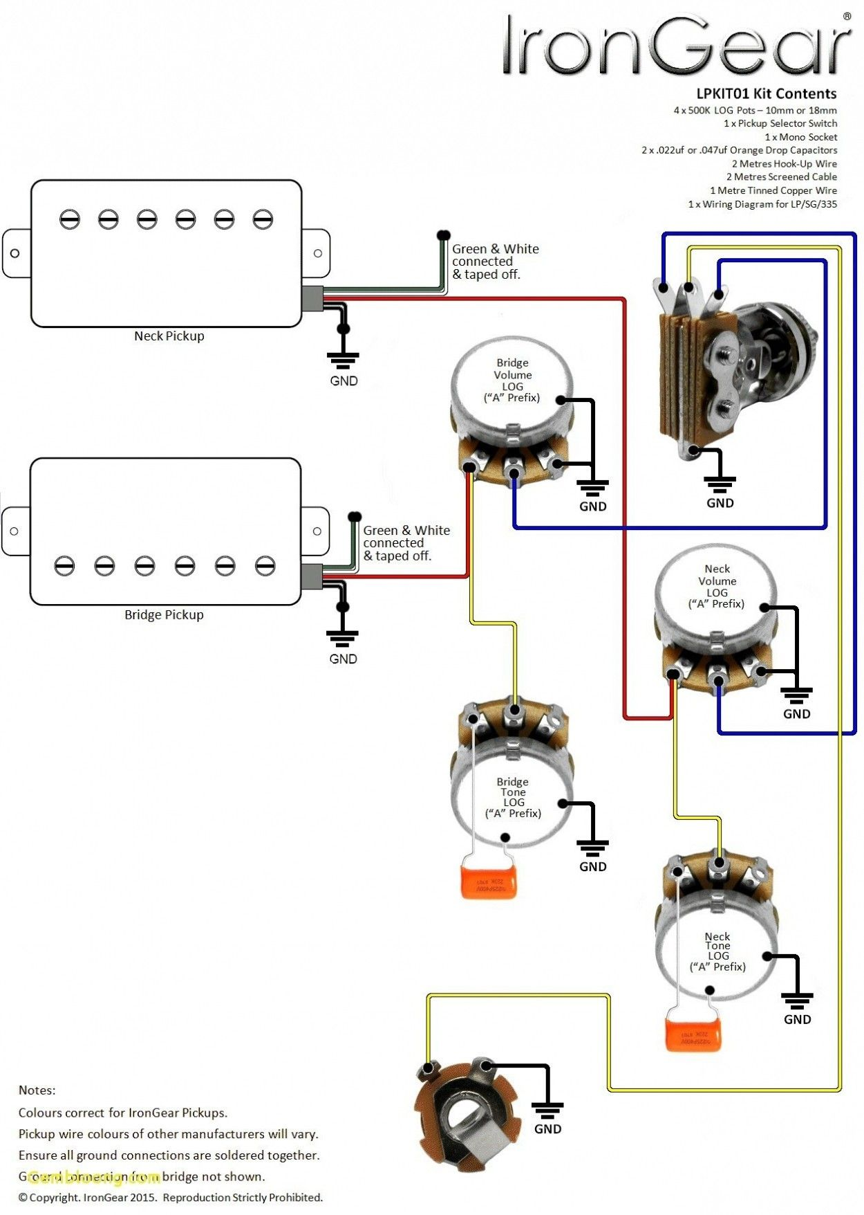 Unique Wiring Diagram for EpiPhone Les Paul Special