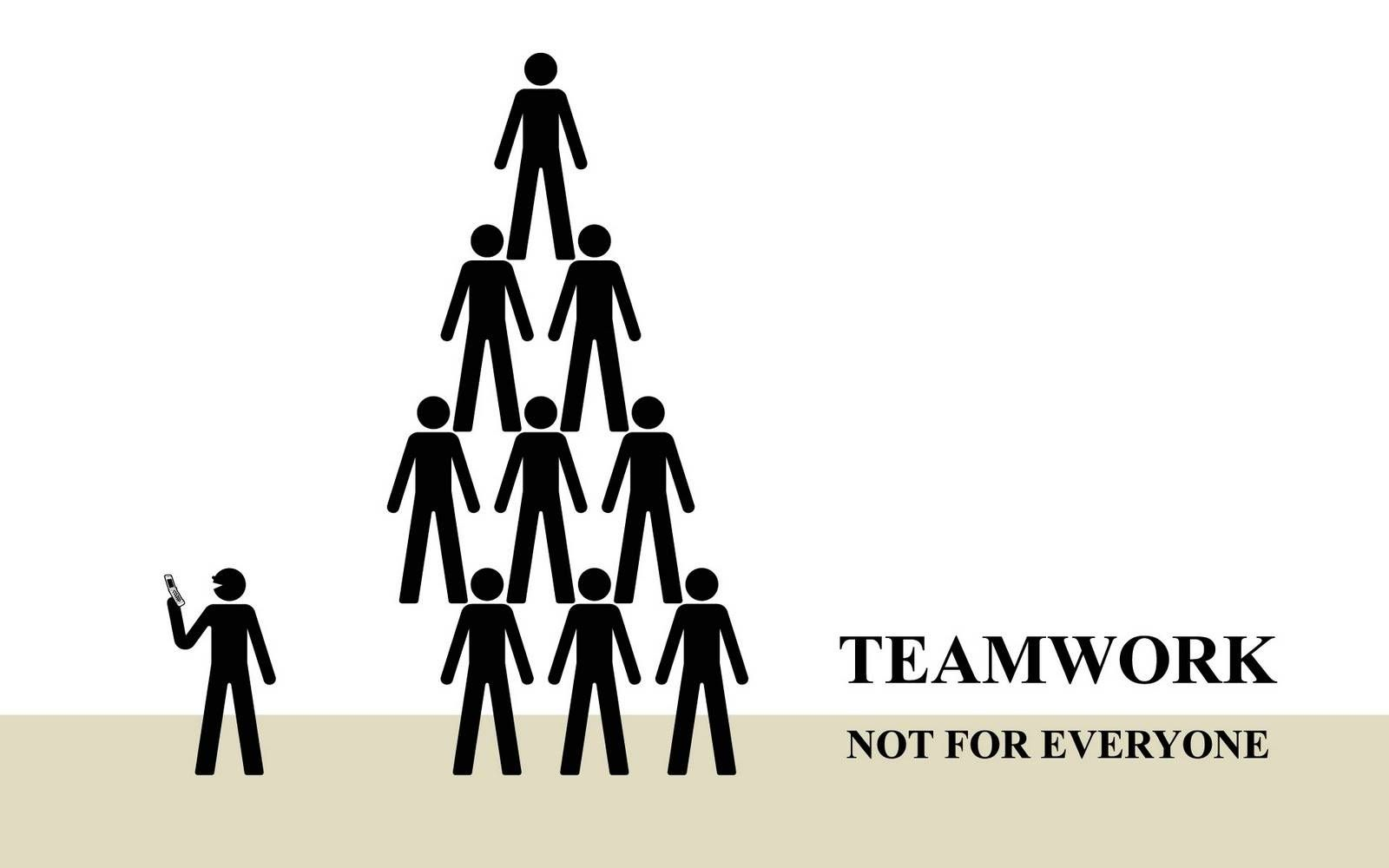 Funny Work Quotes about team work it means work
