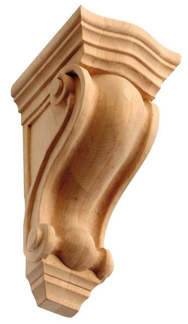 10 1 2 H X 4 7 8 W X 5 1 4 D Wave Style Wooden Medium Corbel Wooden Corbels Corbels Wood Carving Designs