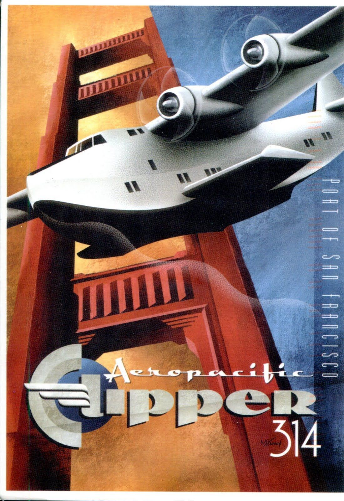 Clipper 314 Poster Posterizor Pinterest Art Deco