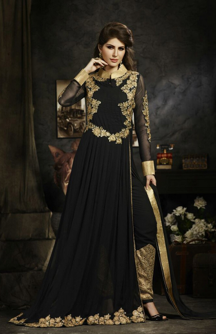 Blogpakistanipk Wp Content Uploads 2016 03 20 Indian Wedding Dresses You Can Try This Season Black Suit
