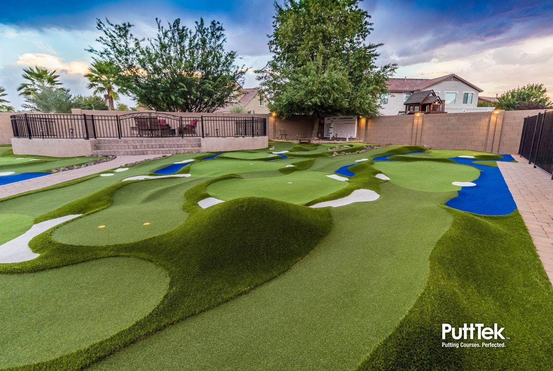 DESIGN | PuttTek | Backyard putting green, Green backyard ...