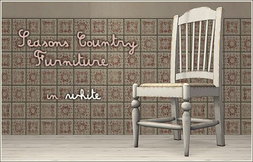 Seasons Country Furniture In White   Annau0027s Sims