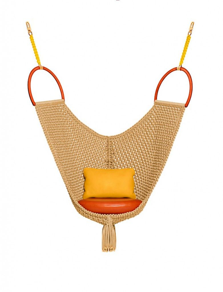 Swing chair by patricia urquiola for louis vuittonus new collection