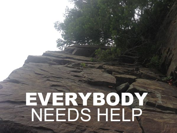 Why you should never feel ashamed to ask for outside help with life issues.