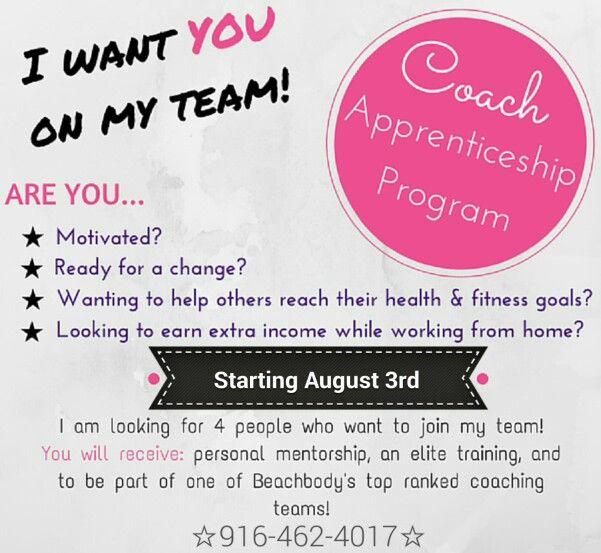 Are you looking for a business that allows you to serve and help others, while empowering you to be the BEST YOU. Become a gamechanger in your own health & fitness today. BECOME A BB COACH TODAY  & then register with me 916-462-4017 for the next Coach Apprenticeship Program @ http://www.beachbodycoach.com/AnitaSmithson