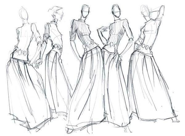 Fashion Pencil Sketches Fashion Illustration Cadamatre