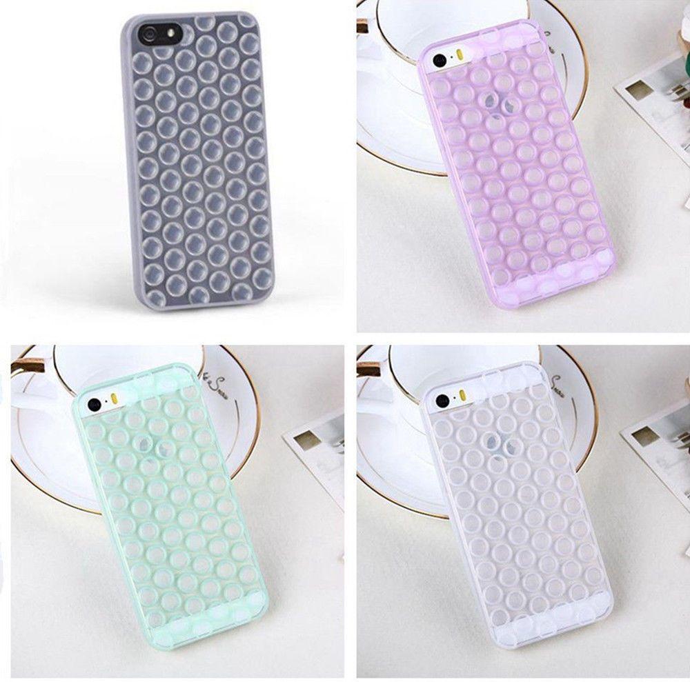 super popular e4268 9a0aa Cool Cute 3D Bubble Wrap Design Soft TPU Back Case Cover for iPhone ...