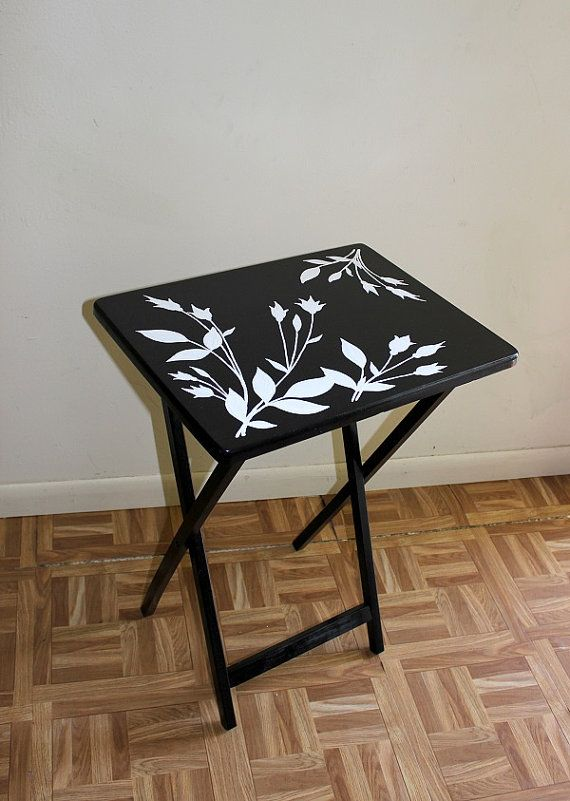 Wood Folding Coffee Table Hand Painted By Idecor4you On Etsy 59 99