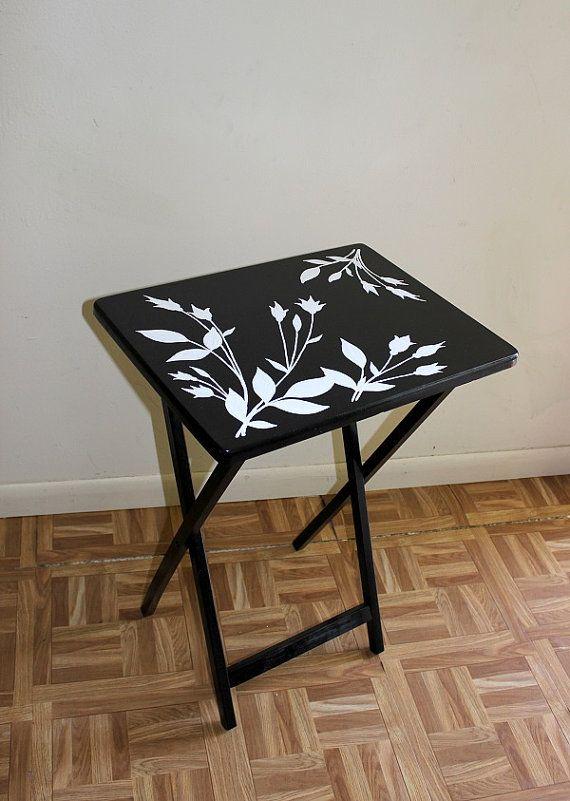 TV Tray Table, Wood Folding TV Tray, Custom Folding Coffee