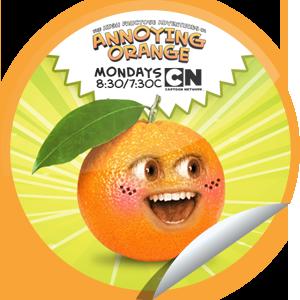 The Annoying Orange Annoying Cutesie Annoying Orange Orange Stickers