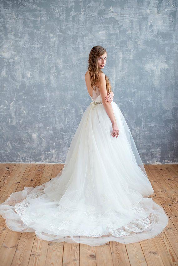 Wedding dress, ball gown,horsehair wedding dress, corset wedding ...
