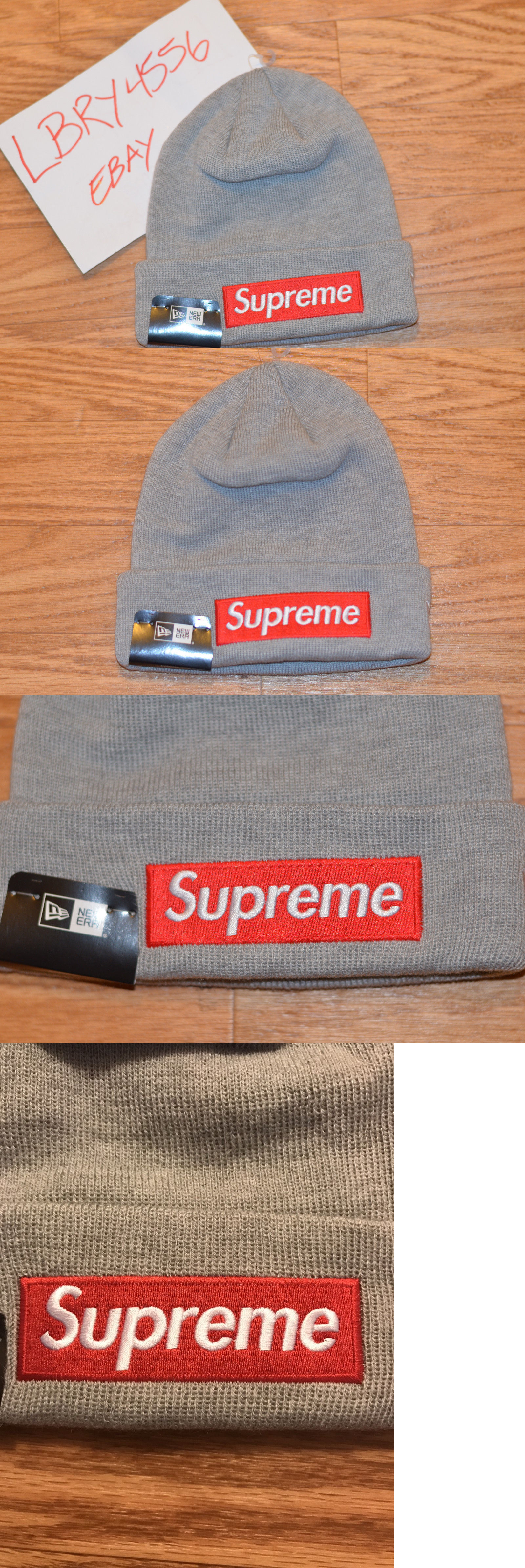 Hats 52365  Supreme X New Era Box Logo Bogo Beanie Hat Cap Grey 16Fw -  BUY  IT NOW ONLY   39 on eBay! e5a3e37d544