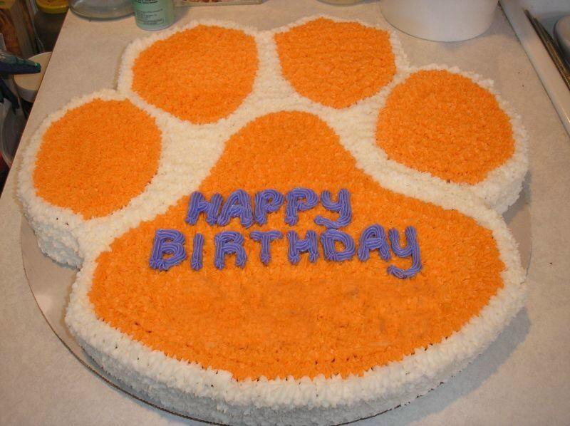Pin Clemson Cake Cake On Pinterest