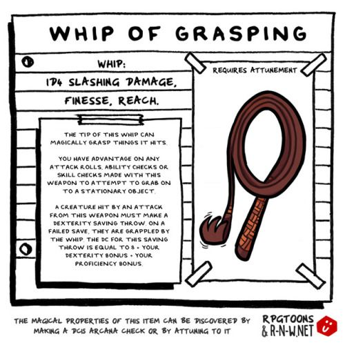 Whip of grasping enchanted item | D&D GLORY in 2019 | Dnd monsters