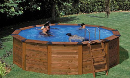 Intex Wood Grain Above Ground Pools | Portable Wooden Pool