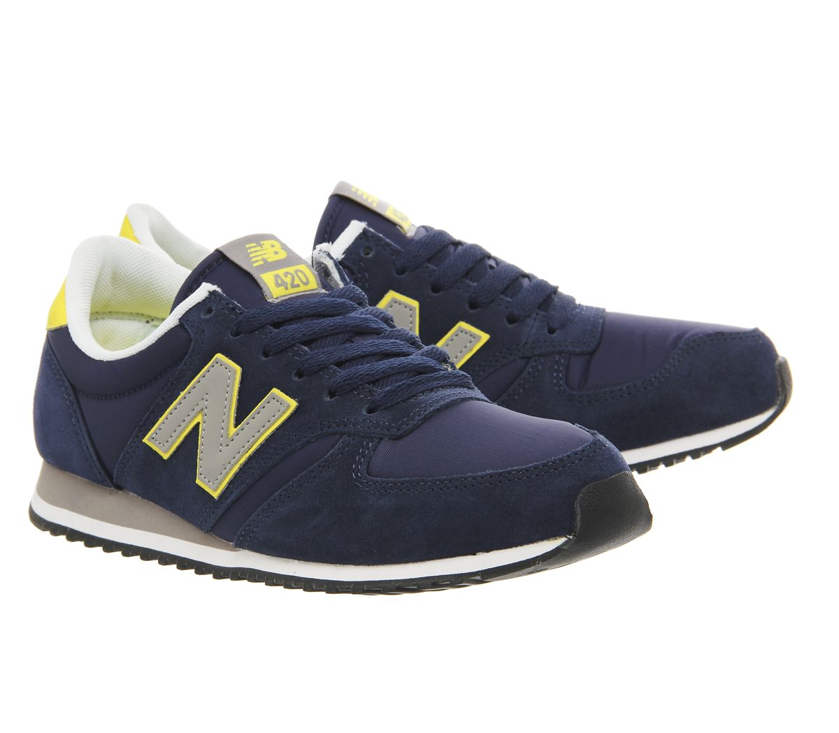 New Balance U420 Trainers Navy Yellow Grey Exclusive - Unisex Sports