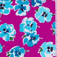 Vibrant Pink Floral Shirting